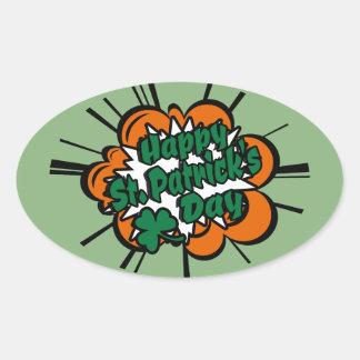 Happy St. Patrick's Day Oval Sticker