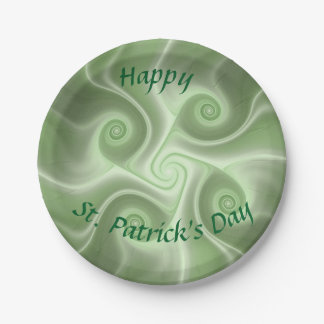 Happy St Patrick's day Paper Plate
