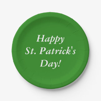 Happy St. Patrick's Day! Paper Plate