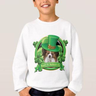 Happy St Patricks Day Papillon Sweatshirt
