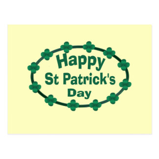 Happy St Patrick's Day Postcard