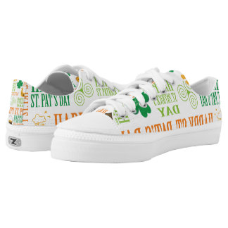 Happy St. Patrick's Day Printed Shoes