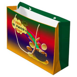 Happy St. Patrick's Day Rainbow Large Gift Bag