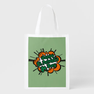 Happy St. Patrick's Day Reusable Grocery Bag