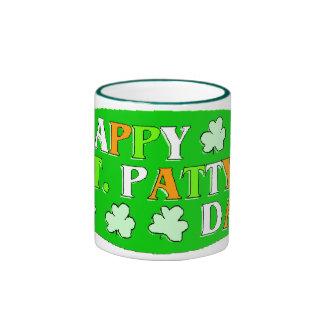 Happy St Patrick's Day Ringer Mug