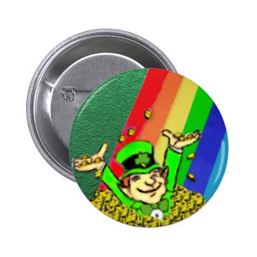 Happy St. Patrick's Day Round Button