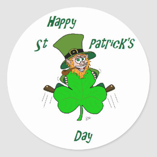 Happy St Patrick's Day Round Sticker