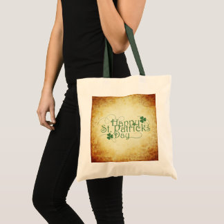 Happy St. Patrick's Day Rustic Tote Bag