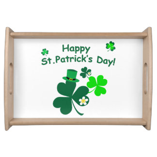 Happy St. Patrick's Day Serving Tray