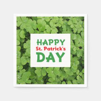 Happy st.Patrick's Day shamrock napkins Disposable Napkin