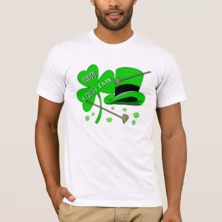 Happy St Patrick's Day Shamrock T-Shirt