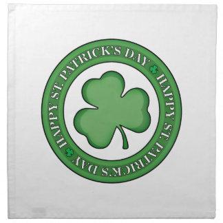 Happy St Patricks Day Shield Napkin
