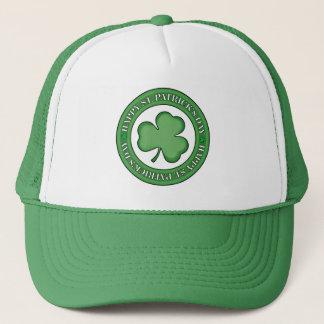 Happy St Patricks Day Shield Trucker Hat