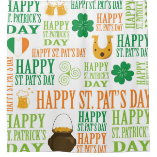 Happy St. Patrick's Day Shower Curtain