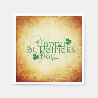 Happy St. Patrick's Day Square Disposable Napkins