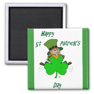 Happy St Patrick's Day Square Magnet