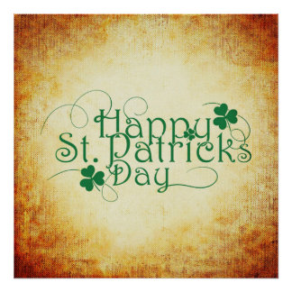 Happy St. Patrick's Day Square Poster