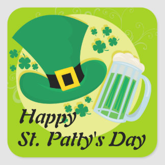 Happy St. Patricks Day! Square Sticker