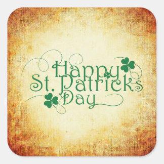 Happy St. Patrick's Day Square Sticker