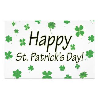 Happy St Patricks Day Stationery Design