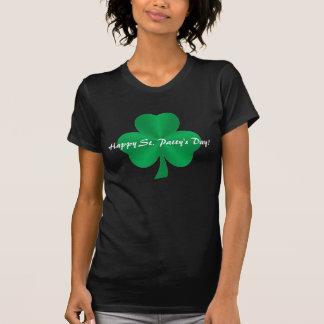 Happy St Patty s Day Green Satin Shamrock Shirt