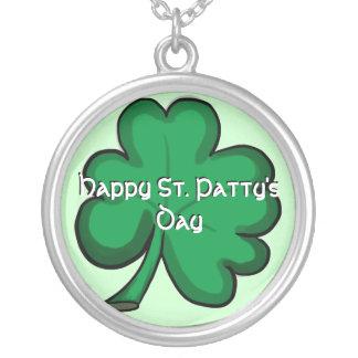 Happy St Patty s Day shamrock necklace