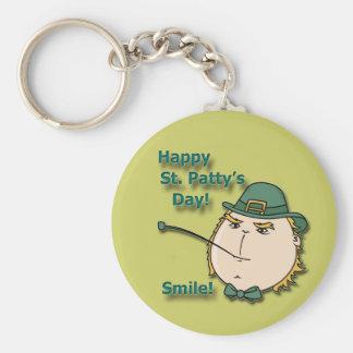 Happy St Patty s Day Smile Green Leprechaun Key Chains