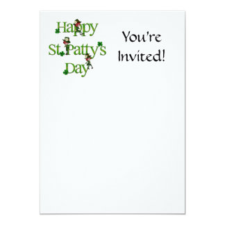 Happy St. Patty's Day 13 Cm X 18 Cm Invitation Card