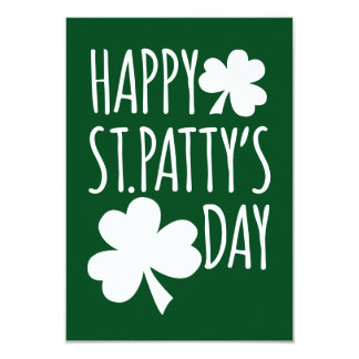 Happy St. Patty's Day 9 Cm X 13 Cm Invitation Card