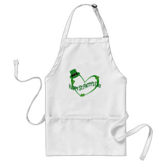 Happy ST Pattys Day Adult Apron