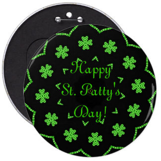 Happy St. Patty's Day Clovers Pins
