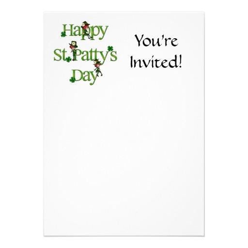 Happy St. Patty's Day Custom Invitation