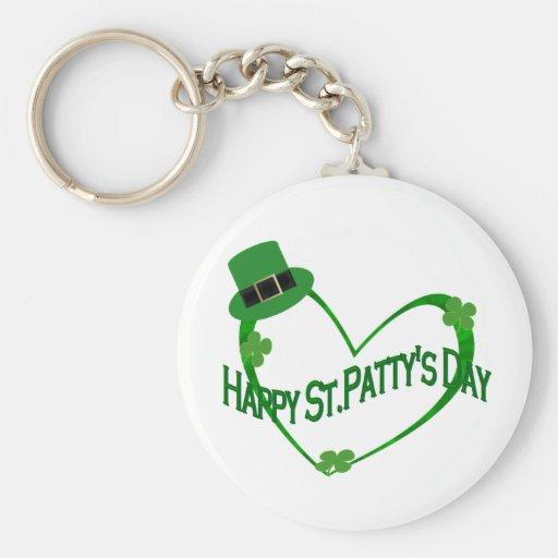 Happy ST Pattys Day Keychain