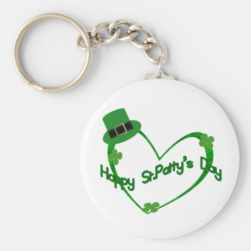 Happy ST Pattys Day Key Chains