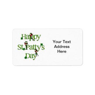 Happy St. Patty's Day Address Label