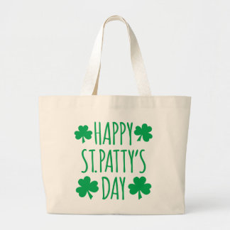 Happy St. Patty's Day Large Tote Bag