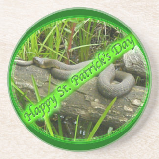 Happy St. Patty's Day No Snakes Beverage Coasters