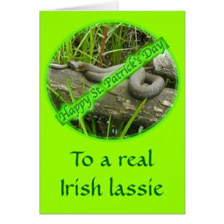 Happy St. Patty's Day No Snakes Greeting Card