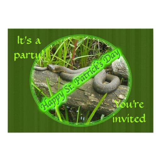 Happy St. Patty's Day No Snakes Invitation