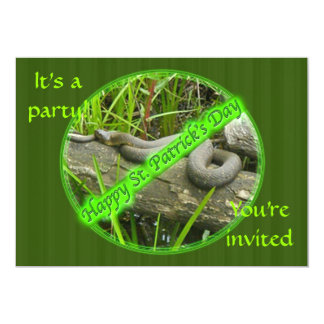 Happy St. Patty's Day No Snakes Invitation