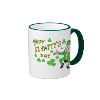 Happy St Patty's Day Ringer Mug