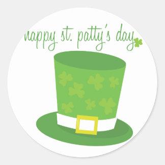 Happy St Pattys Round Sticker