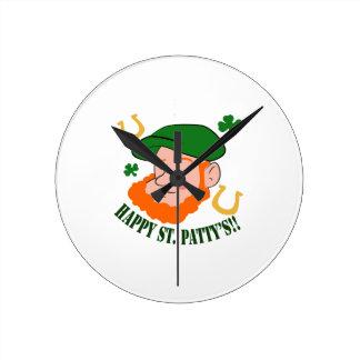 Happy St. Pattys Wallclocks