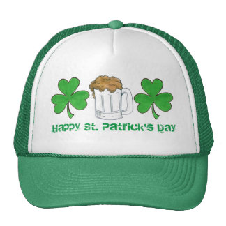 Happy St. Saint Patrick's Day Shamrock Beer Hat