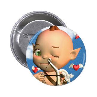Happy St Valentine s Day Cupid Button