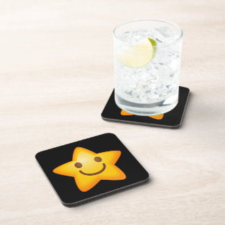 Happy Star Emoji Drink Coasters