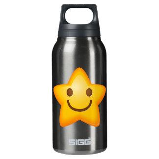 Happy Star Emoji Insulated Water Bottle