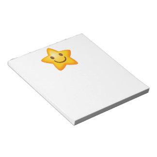 Happy Star Emoji Notepad