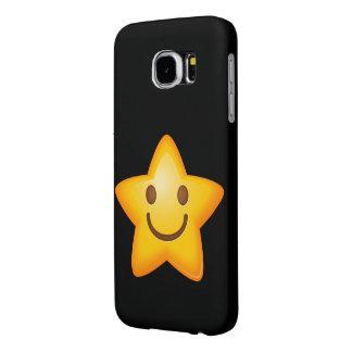 Happy Star Emoji Samsung Galaxy S6 Cases