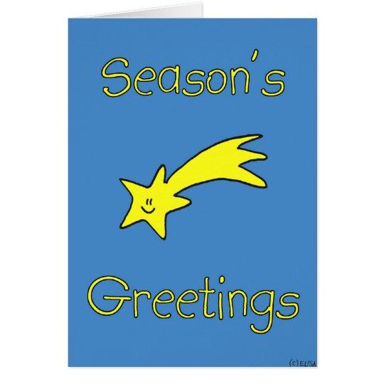 Happy Star - Season's Greetings (blank inside) Card